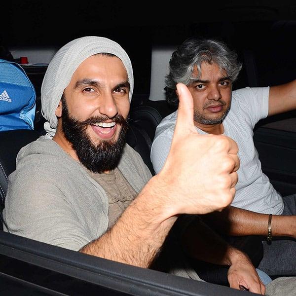 Ranveer Singh attends Befikre movie screening