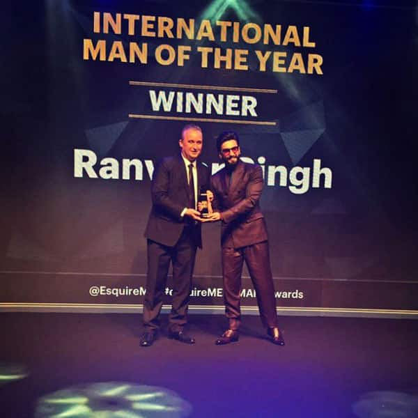 Ranveer Singh looked Dapper as he collected the award for International Man of the Year