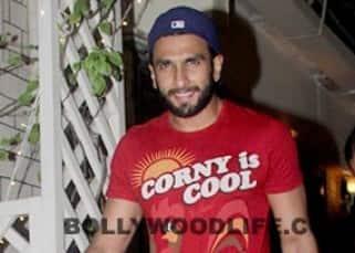 Ranveer Singh spotted outside restaurant in Bandra