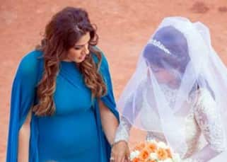 Raveena Tandon with Chhaya during wedding in Goa