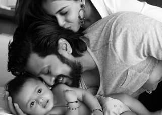 Riteish Deshkmukh, Genelia D'souza and Riaan Deshmukh family picture