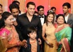 Salman Khan and family attend their driver son's wedding