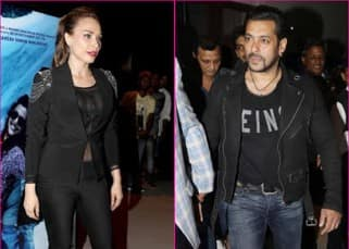 Salman Khan and rumoured girlfriend Iulia Vantur twin in black at the music launch of a movie