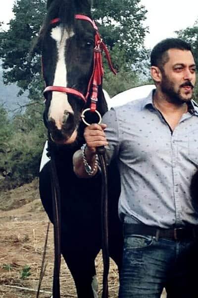 Salman Khan During The Shoot Of Being Human
