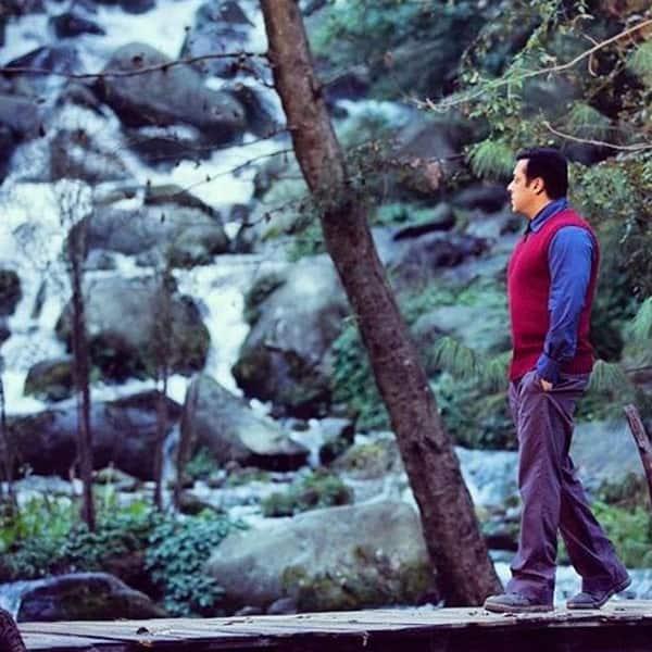 Salman Khan takes a walk enjoying nature on the sets of Tubelight.