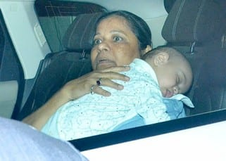 Salman Khan's nephew Ahil clicked sleeping in car