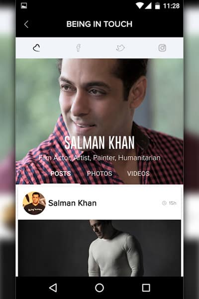 Salman Khan's new app #BeingInTouch will help his fans communicate with the star
