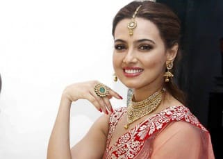 Sana Khan's Diwali celebrations with media