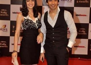Sanaya Irani with boyfriend Mohit Sehgal at Indian Telly Awards event