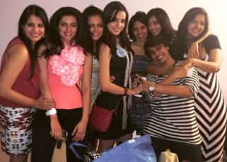 Sanaya Irani with her friends at her bachelorette party