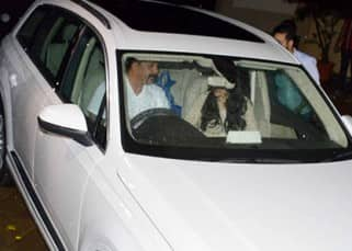Sanjay Dutt and Manyata Dutt snapped in their Audi Q7
