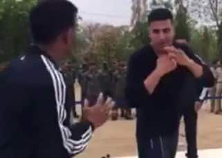 Scoop! Akshay Kumar pins down an IPS officer during a REAL fight sequence
