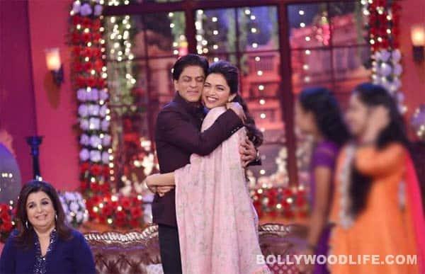 Shah Rukh Khan gives Deepika Padukone a warm hug!