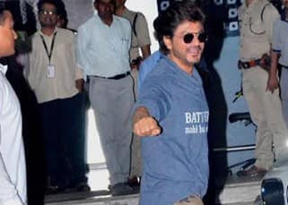 Shah Rukh Khan is all smiles as he returns from his Pune promotions of Raees