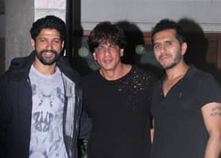 Shah Rukh Khan meets 'Don' buddies Farhan Akhtar and Riteish Sidhwani to discuss 'Don 3'??