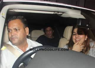Shah Rukh Khan snapped inside car at Nido in Mumbai