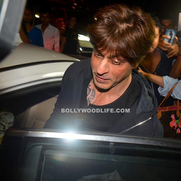 Shah Rukh Khan snapped sitting in car at Bandra
