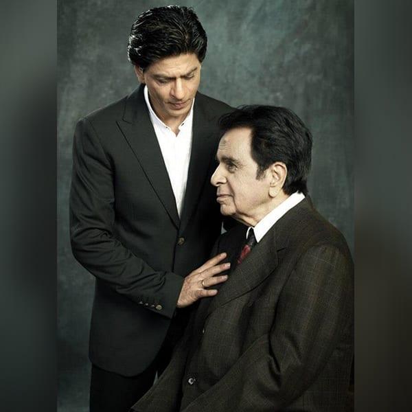 Shah Rukh Khan with Dilip Kumar in the Filmfare photoshoot
