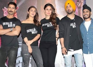 Shahid and Kareena look towards camera during trailer launch of 'Udta Punjab'