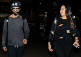 Shahid Kapoor and wife Mira Rajput return from their holidays but where's baby Misha?