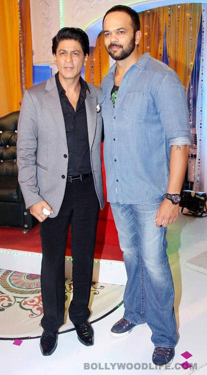 Shahrukh Khan and Rohit Shetty on the sets of Taarak Mehta Ka Ooltah Chashmah