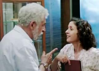 Shernaz Patel and Naseeruddin Shah's still from 'Interior Café Night'