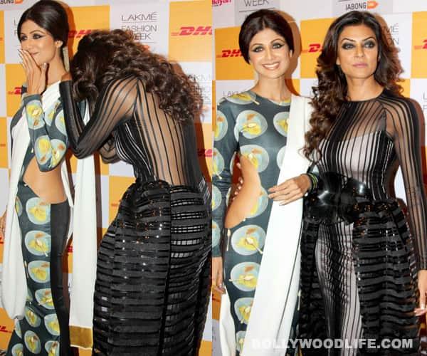 Shilpa Shetty and Sushmita Sen at the Lakme Fashion Week 2014!
