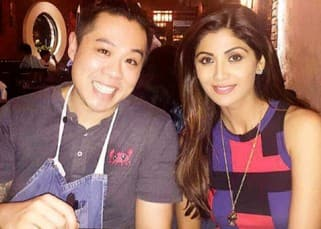 Shilpa Shetty snapped with the chef of Bastian restaurant