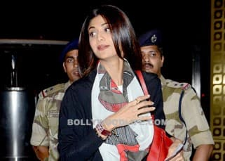Shilpa Shetty spotted at airport as she leaves for London with family