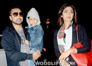 Shilpa Shetty spotted at airport with her family as they leave for London, see pics!