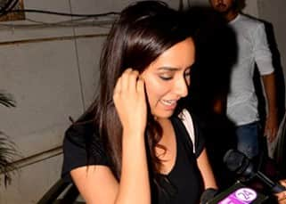 Shraddha Kapoor surrounded by media persons on her movie outing