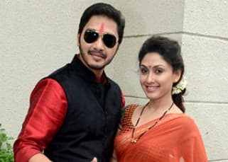 Shreyas Talpade and Manjari Phadnis launched 'Wah Taj' movie poster in a complete traditional look!