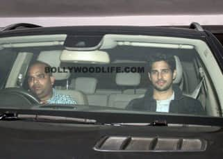 Sidharth Malhotra spotted at Karan Johar's house