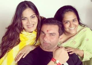 Sohail Khan with sisters Arpita Khan and Alvira during Rakhi celebration