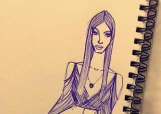 Sonakshi Sinha shares Kim Kardarshian's sketch via Snapchat