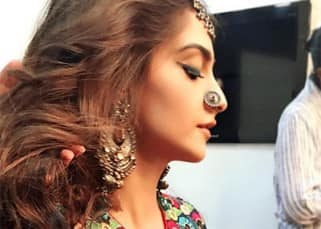 Sonam Kapoor in Mayyur Girotra outfit for Coldplay video