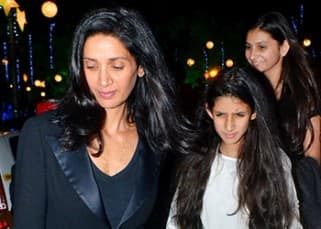 SPOTTED: Arjun Rampal's daughters looked stunning during their visit at Mount Marry church