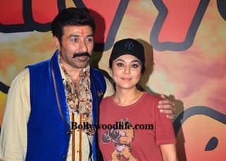 Sunny Deol, Preity Zinta and Ameesha Patel spotted on the sets of 'Bhaiyyaji Superhitt', see pics!