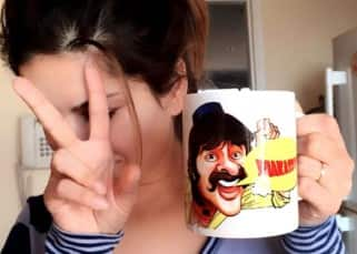 Sunny Leone starts her day with coffee in her favourite 'Anil Kapoor caricature' mug