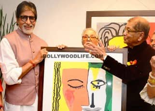 Superstar Amitabh Bachchan launches Dilip De's art exhibition 'Celebration of Love' in Mumbai, see HQ pics