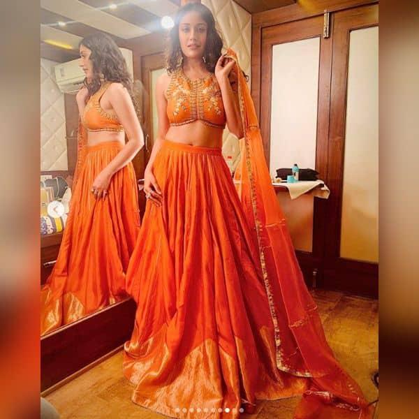 Surbhi Chandna is Diwali-ready in this gorgeous orange lehenga