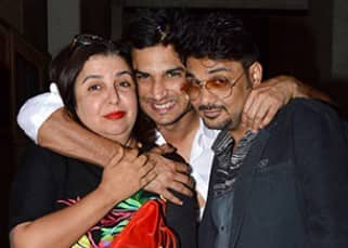 Sushant Singh Rajput and Farah Khan at his birthday bash