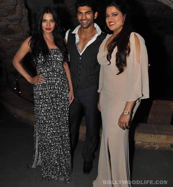 Taaha Shah and Sara Loren at their film Barkhaa's wrap up party