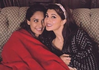This picture of Jacqueline Fernandez and Lisa Haydon snuggling together is too cute to be missed!