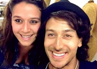 Tiger Shroff and Krishna Shroff's airplane selfie