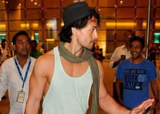 Tiger Shroff at Mumbai airport