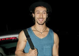 Tiger Shroff poses for cameras in Bandra