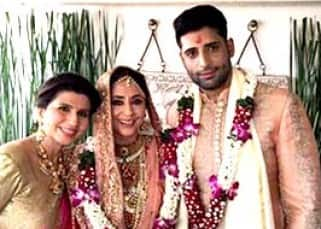 Urmila Matondkar during her mehendi ceremony