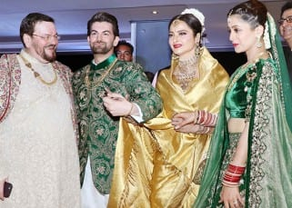 Urvashi Rautela, Bipasha Basu and Karan Singh Grover, Rekha: Celebs at Neil Nitin Mukesh and Rukmini Sahay's reception