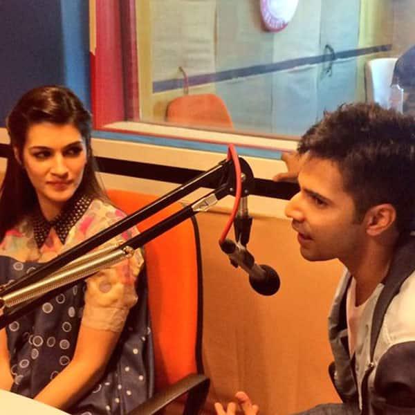 Varun Dhawan and Kriti Sanon promote Dilwale looking